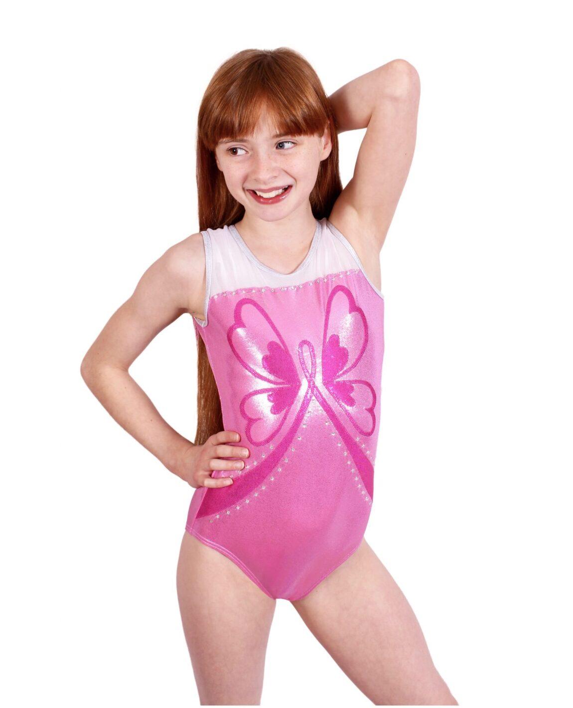 Pink Girls Gymnastics Leotards. Find your favorite pink gymnastics leotard here for your favorite gymnast. You won't have far to go. Snowflake Designs has the best leotards!