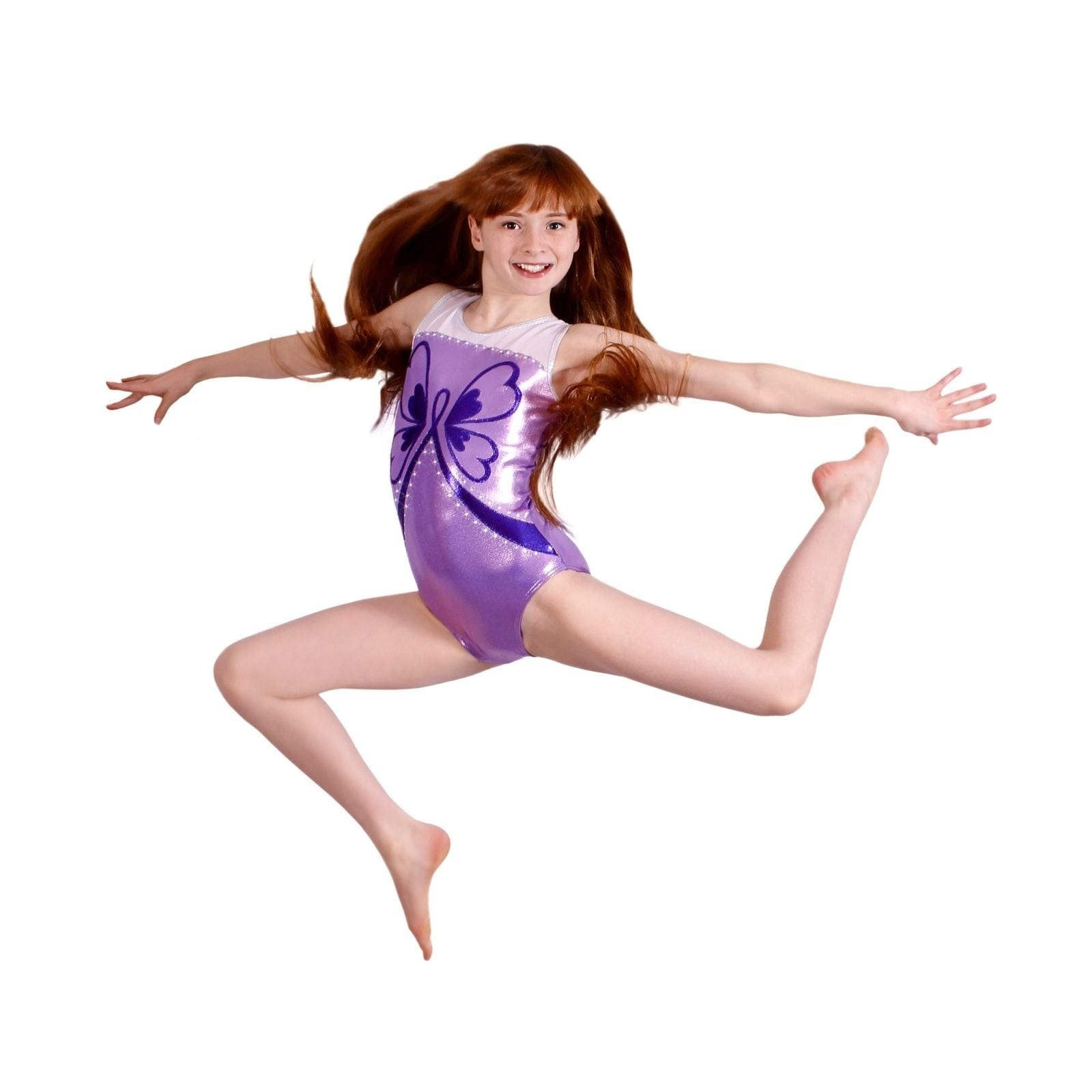 282a1f1ad607 Butterfly Hope Girls Gymnastics Leotard Pink or Purple