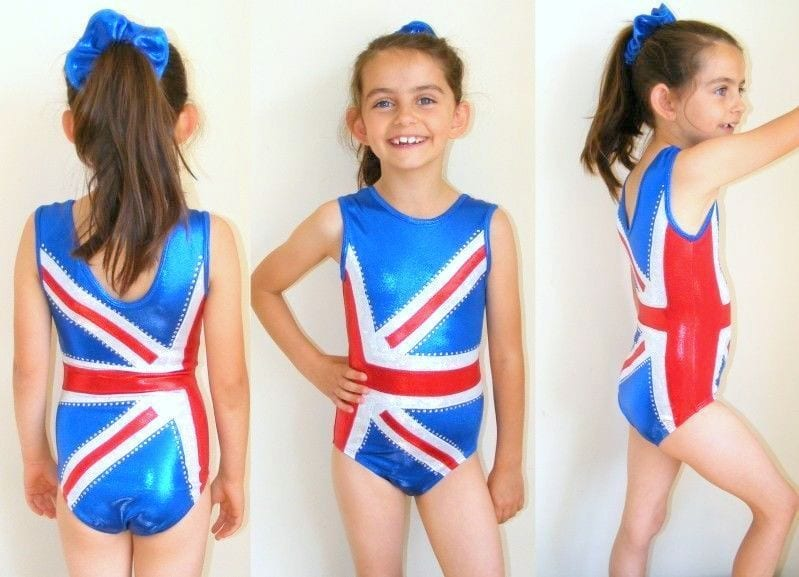 01d04d5c30c Bling on the Flag Sleeveless Girls Gymnastics Dance leotard ...
